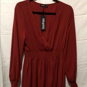 NWT Boohoo asymmetrical dress size 8